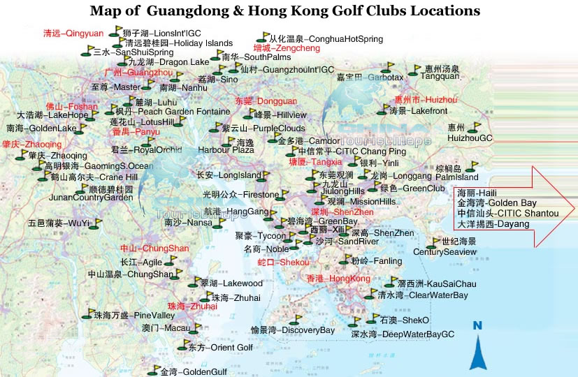Shenzhen golf course map shenzhen golf golf club shenzhen location map of shenzhen golf courses gumiabroncs Choice Image