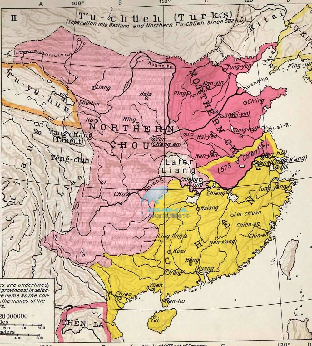 Southern and Northern Dynasties Maps, Ancient China Map