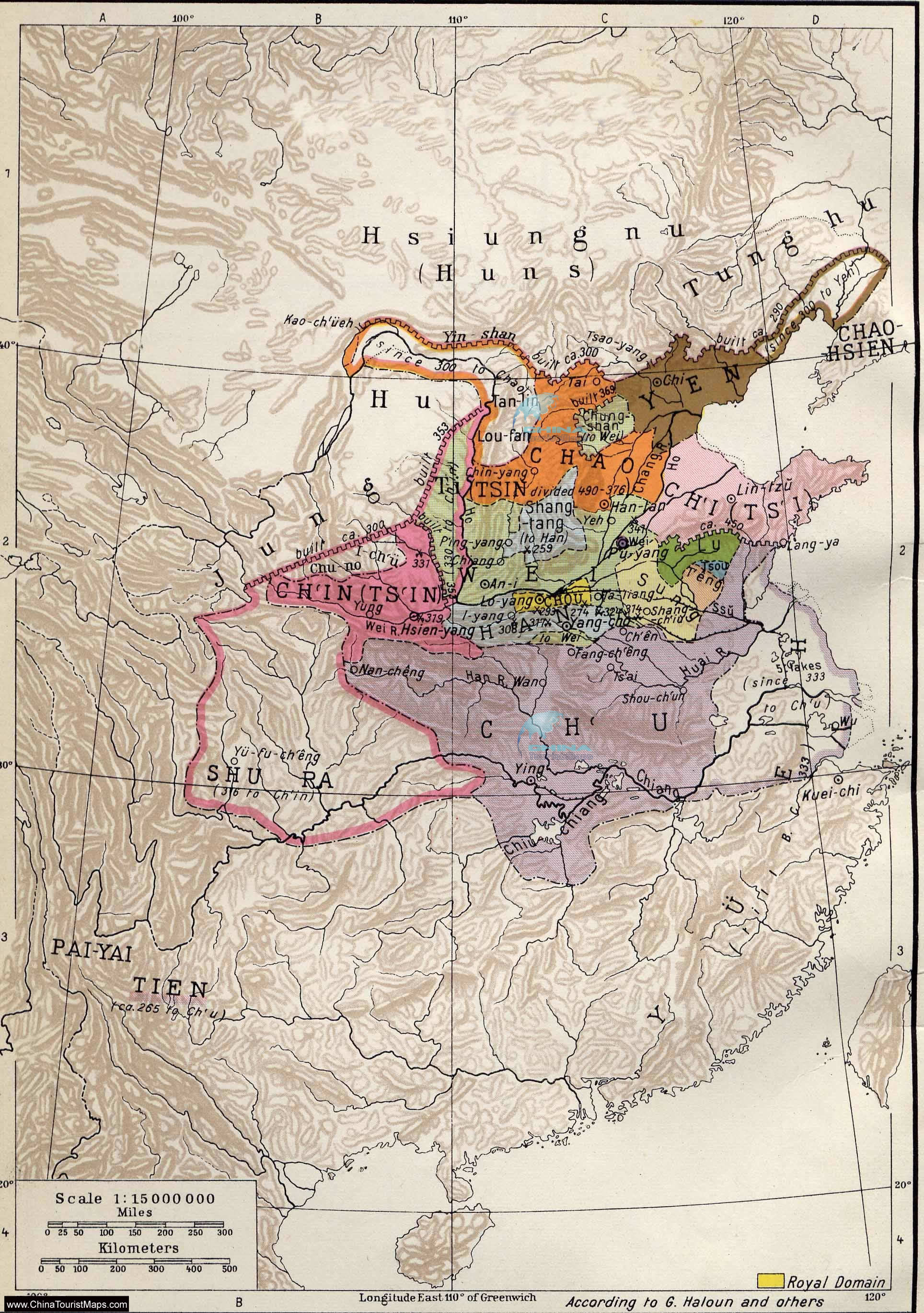 Warring States Period Map Ancient China Map