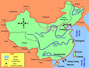 China blank map blank map of china china blank map with beijing china blan map with main two rivers gumiabroncs Image collections