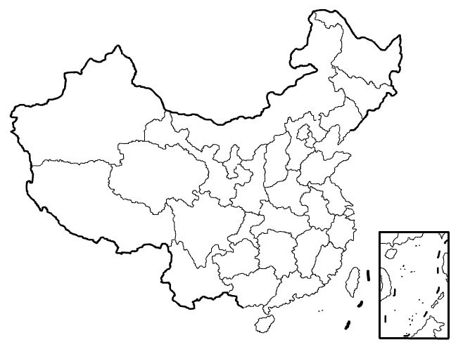 china blank map blank map of china Harbin China Map china blank map