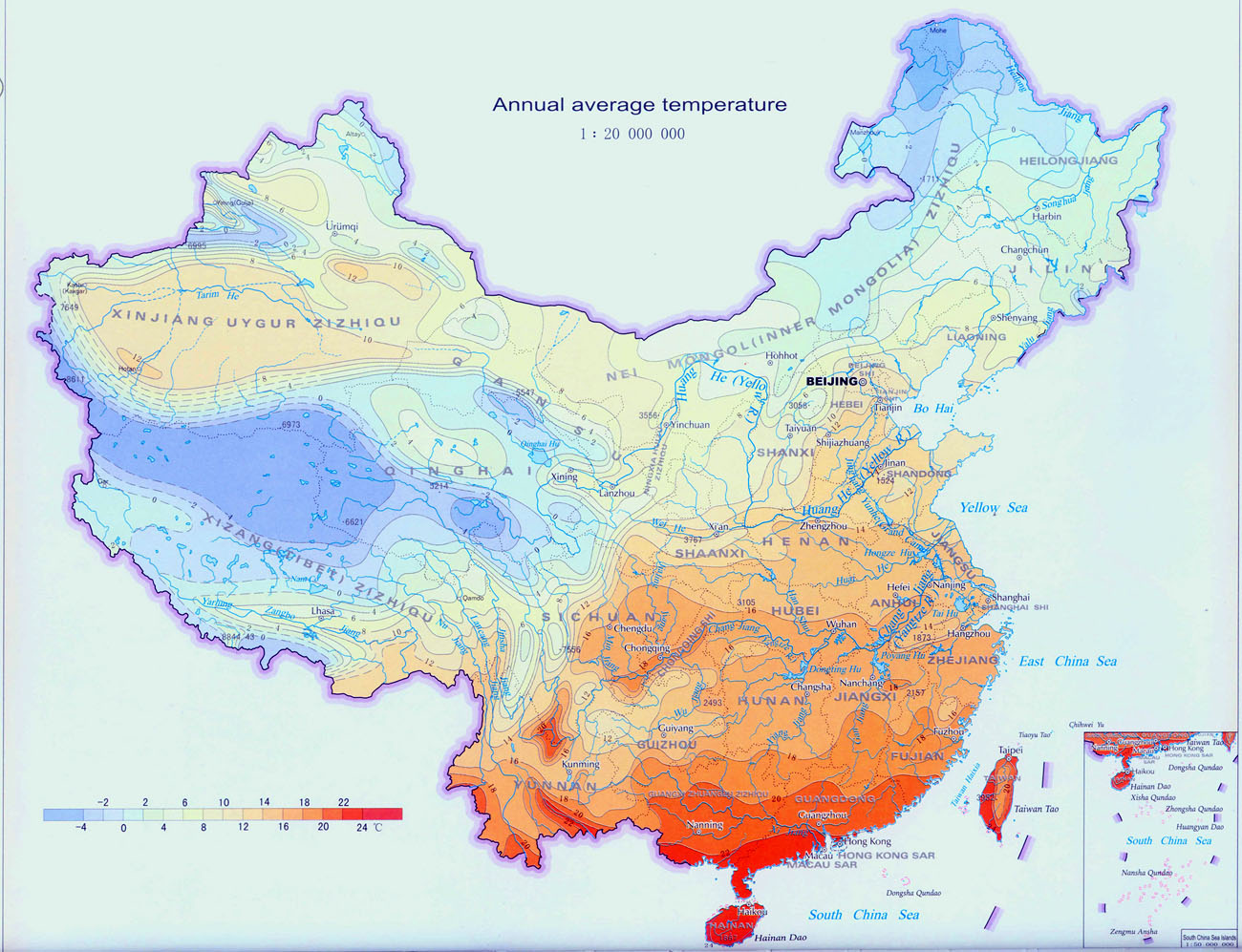 Climate map of china china weather map china climate map gumiabroncs Images