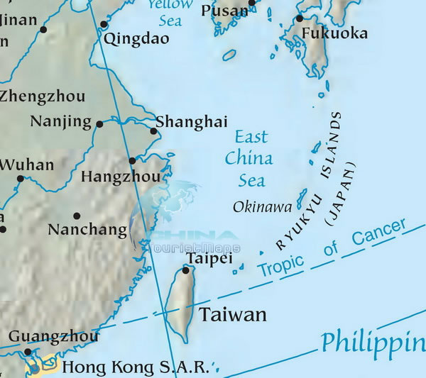 map of south east china East China Sea Map Detailed Dong Hai Map Printable Map Of East map of south east china