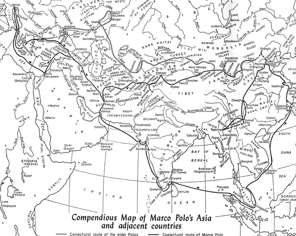 photograph regarding Silk Road Map Printable named Map of Marcos Excursion