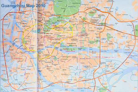 Guangzhou City Map 2011