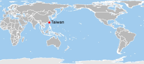 Taiwan World Map, Map of Taiwan on World
