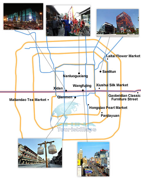 Beijing shopping map