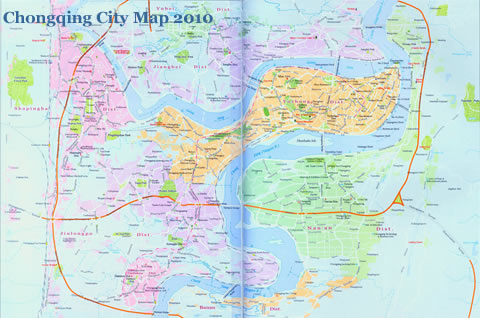 Chongqing City Map 2010&2011