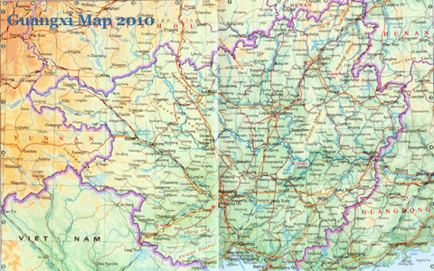Guangxi Map Updated