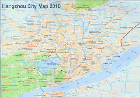 Hangzhou Map Hangzhou City Map Maps of Hangzhou