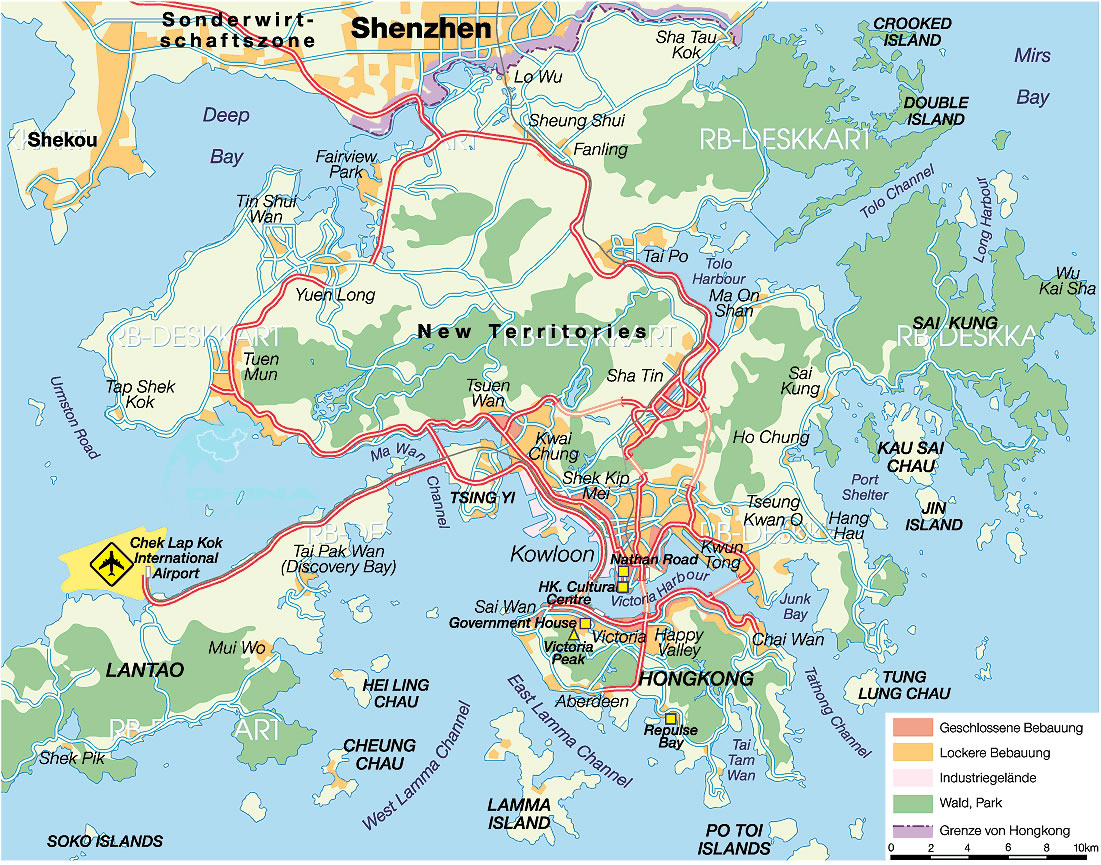 Hong Kong City Map 2012 and 2013 Detailed and printable – Hong Kong Tourist Attractions Map