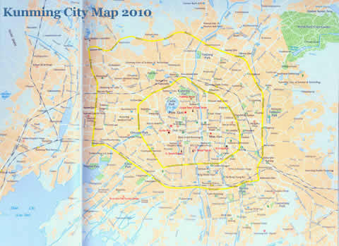 Kunming City Map 2011