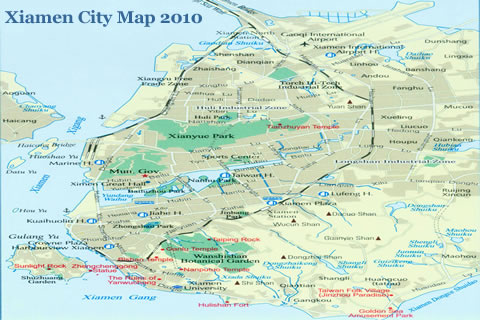 Xiamen map xiamen city map map of xiamen xiamen city map updated gumiabroncs Images