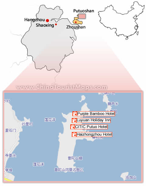 Hotels In Putuoshan And Maps