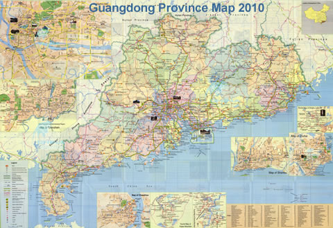 Guangdong Province Map 2011
