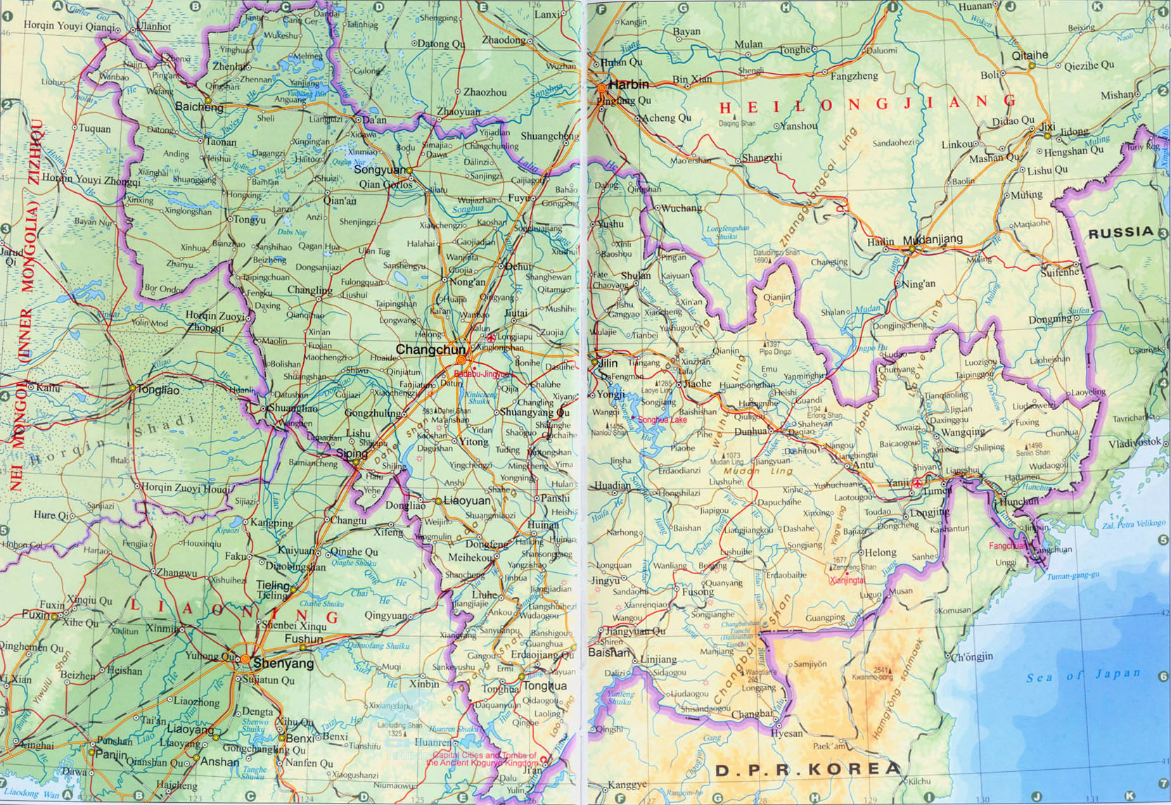 Jilin Map 2011