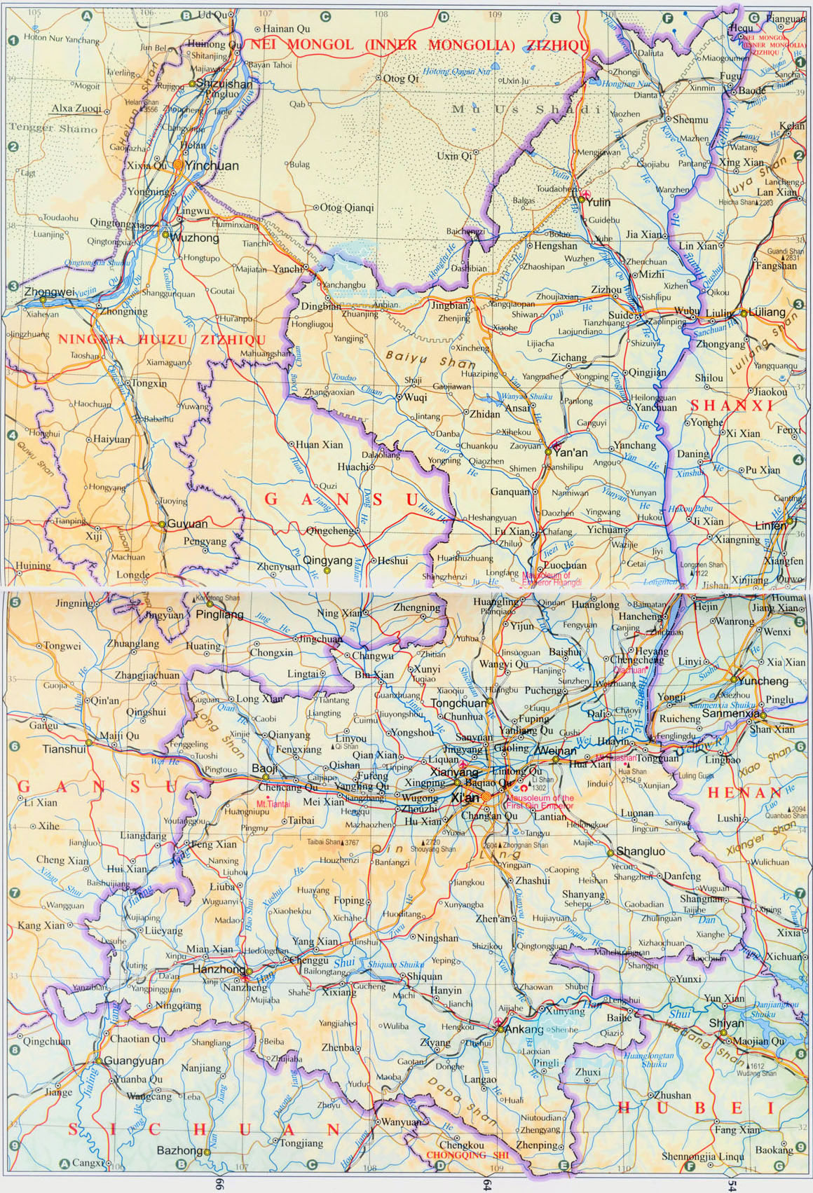 Shaanxi map map of shaanxi shaanxi province map shaanxi map 2011 gumiabroncs Image collections