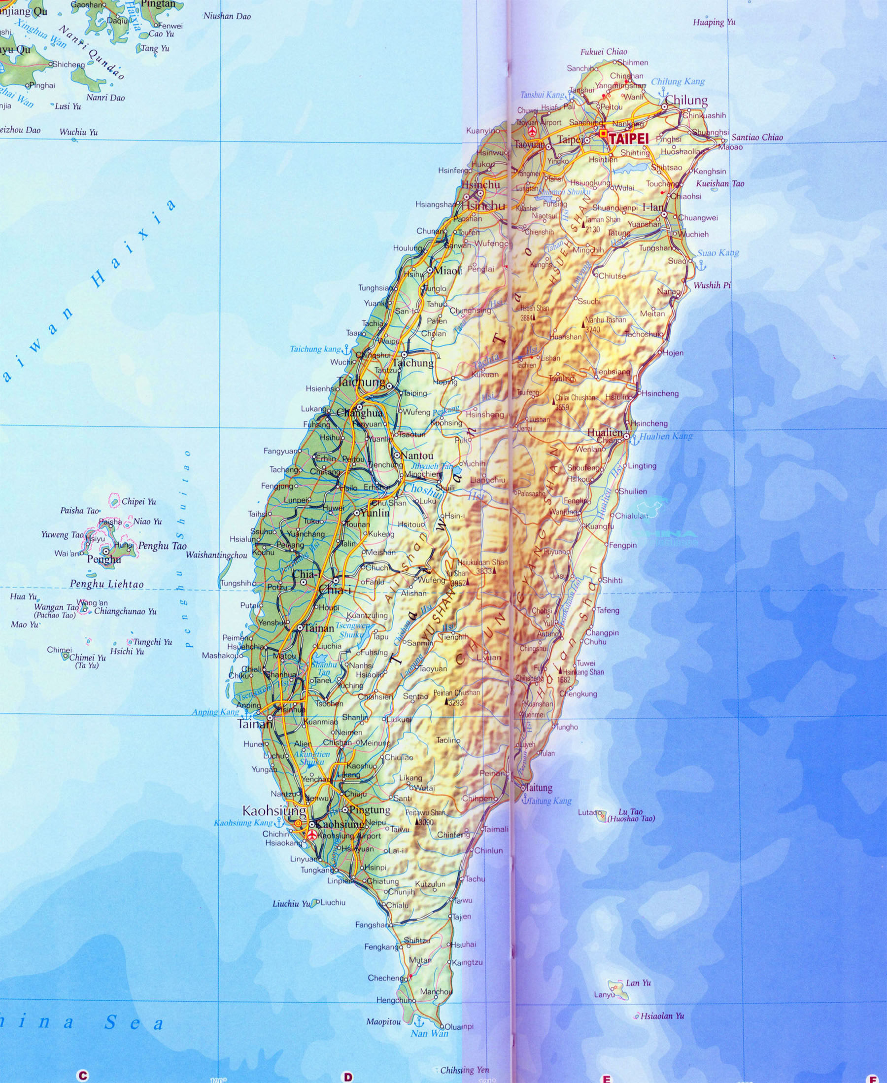 Taiwan Map Map of Taiwan Taiwan Maps – Taiwan Map For Tourist
