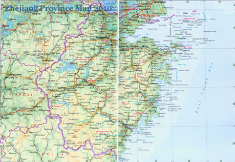 map of china with cities and provinces. Zhejiang Province Map 2011