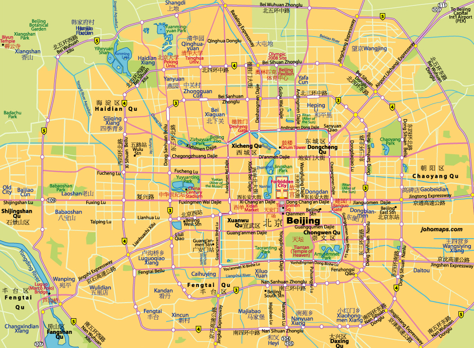 Beijing Districts Map