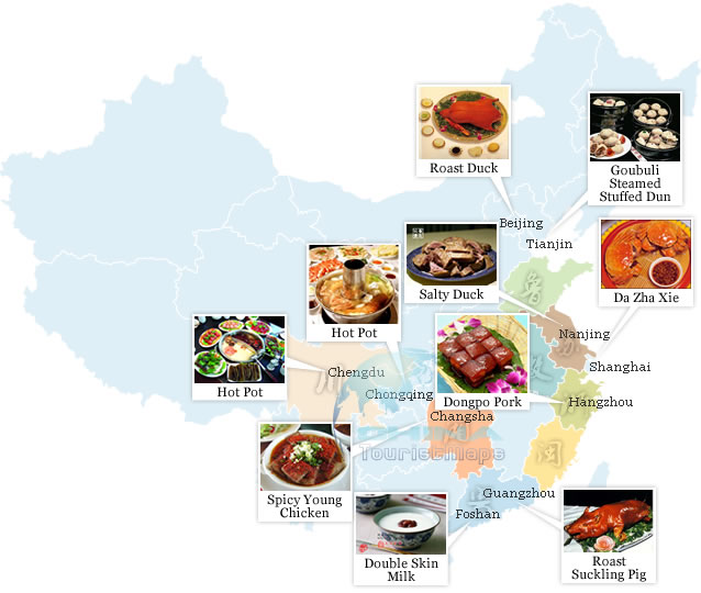 Talon to travel top 10 cities of chinese food for 8 cuisines of china