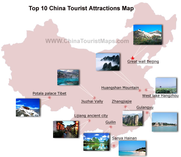 Top 10 China Tourist Attractions Should Not Miss in China Tour – Tourist Attractions Map In China