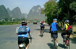 Cycling around Yangshuo Countryside