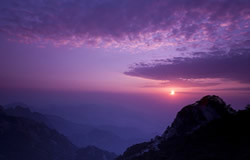 Sunset on the Huangshan Mountain