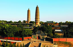 Twin Pagoda Temple in Shanxi province