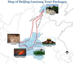 Beijing Luoyang Tour Packages Map