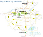 Henan Top Attractions Map