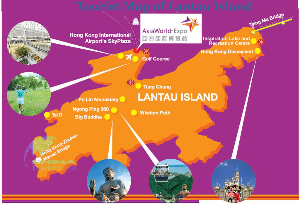 Hong Kong Lantau Island Travel Guide Tourist Map Attractions
