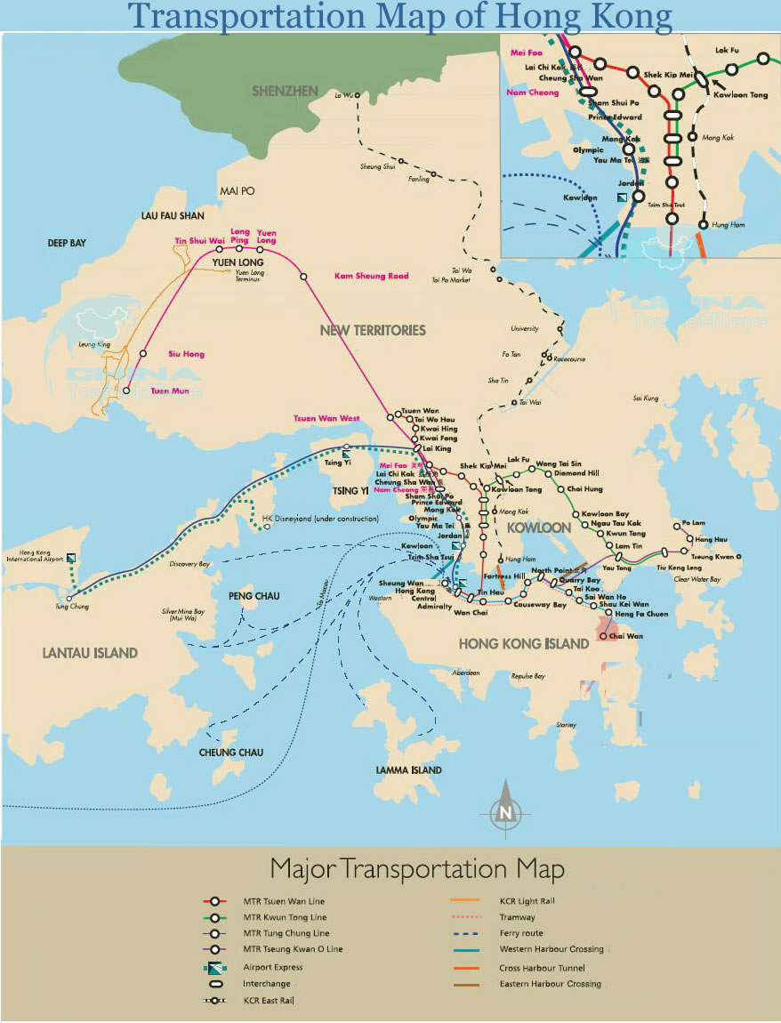 Hong Kong MTR Hong Kong MTR Map Hong Kong Subway Map