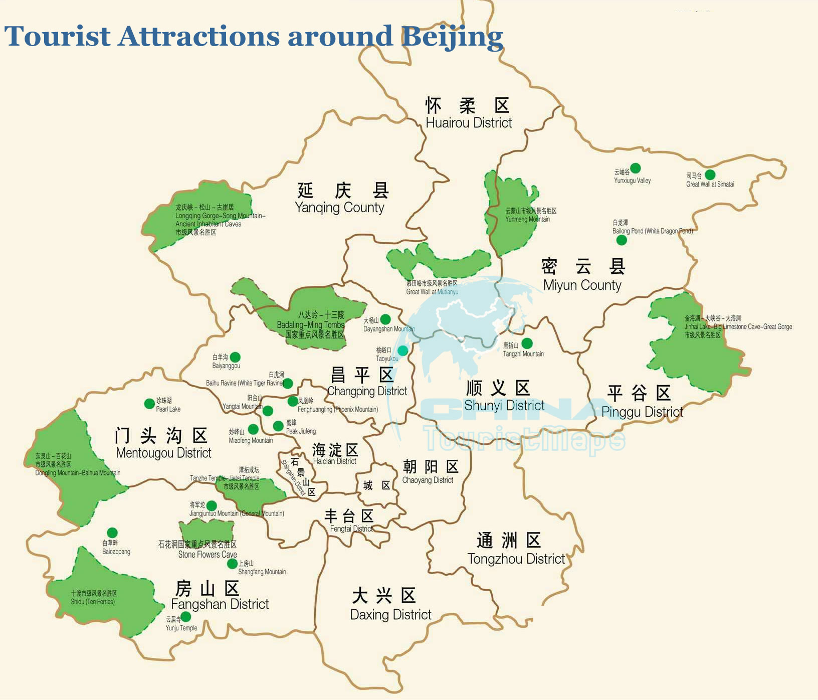 Map of Beijing China Beijing tourist maps – Beijing Travel Map