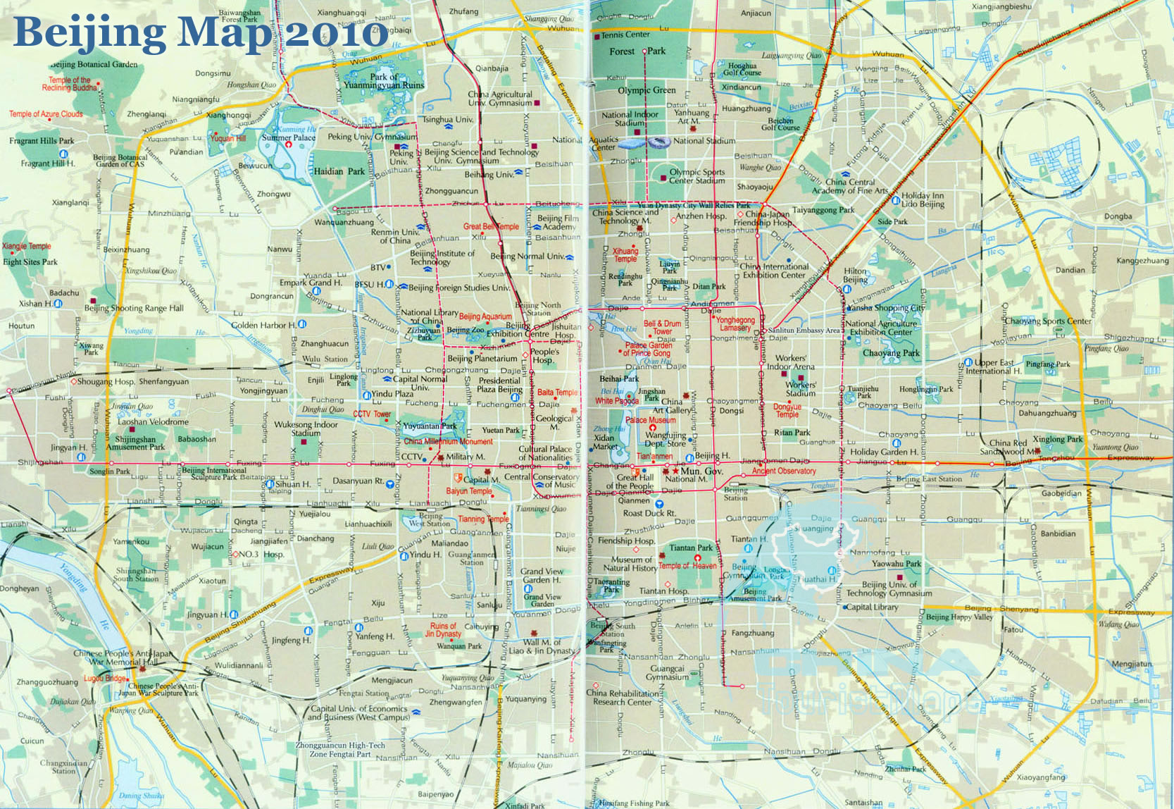 Beijing City Map, 2012
