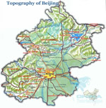 Beijing Topography Map