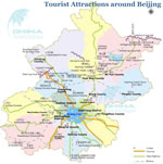 Attractions Around  Beijing Map
