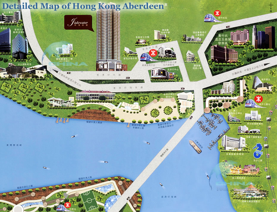 Hong Kong Attractions Map Hong Kong Attractions – Hong Kong Map For Tourist