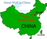 Great Wall Location Map