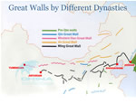 Great Wall Map,by Different Dynasties