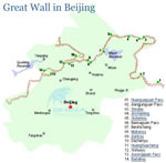 Beijing Great Wall Location Map