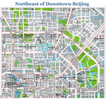 Northeast of Downtown Beijing Map