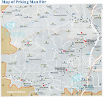 Peking Man Site Map
