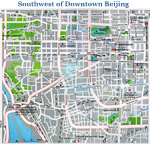 Southwest of Downtown Beijing Map