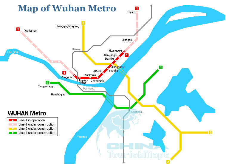 Wuhan China Subway Map.Wuhan Operated Metro Map Wuhan Subway Map For 2012