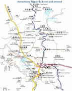 Li River and Around Attractions Map