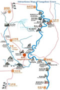 Yangshuo Attractions Map