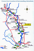 Guilin Crown Cave Location Map