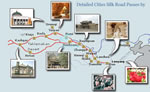 Route Map of China Silk Road