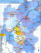 Detailed Guilin Travel Map